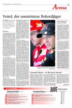 NLZ 2012-11-25 Formel 1 - Vettel_vorschau
